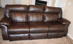3 seat leather recliner $450 OBO -