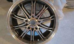 $400 16 Inch American racing Alloy wheels, Black on Chrome