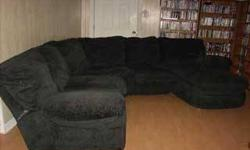 $400 Black Sectional Couch