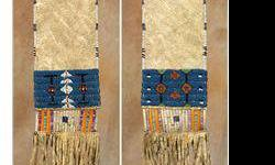 $400 Blackfeet Woman's Beaded and Quilled Pipebag