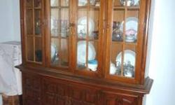 $400 China Cabinet, solid mahagony French Country
