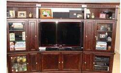 $400 ENTERTAINMENT CENTER Beautiful Chris Madden dark