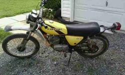 $400 kawasaki ke125 1976 for sale and trade