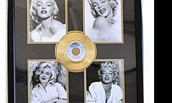 $400 Marilyn Monroe four Giclees with Gold Record