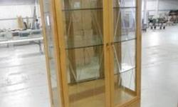 $400 NEW Very Large Curio Cabinet with lights - Retail $1200