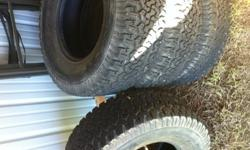 $400 OBO Almost new tires BF Goodrich 315 / 70R17 Baja