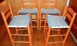 $400 Shaker low back chairs (4)