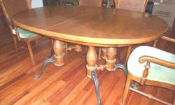 $400 Table & 6 matching chairs, mahagony French Country