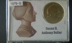 $40 1979-S, Susan B. Anthony Dollar Coin, Free Shipping