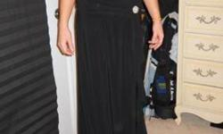 $40 Black formal evening gown size 3/4
