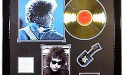 $40 Bob Dylan Giclee and Gold Record