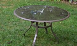 $40 Glass Top Patio Round Table