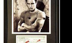 $40 Marlon Brando Giclee with Image of real check