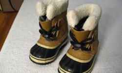 $40 New Kids Sorel Waterproof Boots, Size 6 (Holladay)