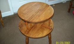 $40 Solid Oak Endtable~Occassional Table