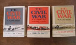 $40 The Civil War A Narrative by Shelby Foote Set of Three