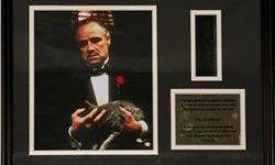 $40 The God Father Giclee with actual film cel from the film