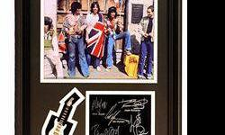 $40 The RollingStones Giclee, mini guitar & engraved