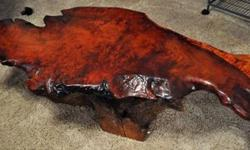 $420 AWESOMELY UNIQUE BURL SLAB TABLE.. Too Cool..!!!