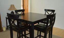 $420 OBO Black Pub Table with 4 Chairs