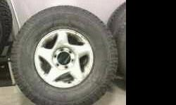 $425 (4) LT285 75R16 truck tires and rims