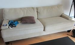 $425 OBO modern sofa couch - REDUCED PRICE