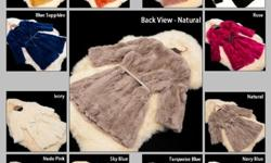 $42 Fast Free Shipping w/ Many Choice Colors Faux Fur Rabbit
