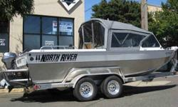 "$44,995 2007 NORTH RIVER 21'6""Commander X powered by a"