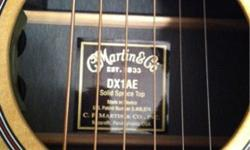 $450 New: Martin DX1AE Acoustic-Electric Guitar