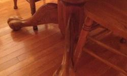 $450 Oak Hutch and Table with Six Chairs