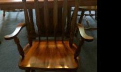 $450 Solid Wood Dining Room Table and Chairs