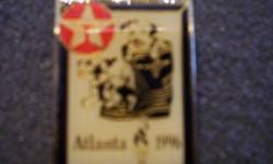 $45 1996 Atlanta Olympic Pin (texaco) Dog in Firemans Boot