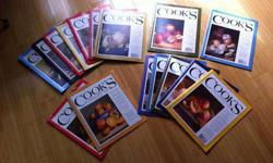 $45 Cook's Illustrated Magazine - Lot of 15 from 2005-2008