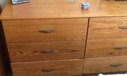 $45 Oak Veneer Dresser, tongue and groove