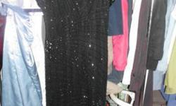 $45 Oleg Cassini Ladies BLACK SEQUIN BEADED100% Silk dress