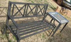 $45 Outdoor metal Bench & table