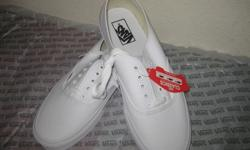 $45 Vans Shoes *Brand New* True White and Black