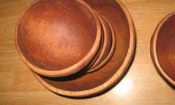 "$45 Vintage ""Leonard"" Wooden Bowl Set"