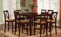 $490 Counter Height Dinette Set W/ Self Storing Leaf