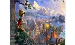 $49 Thomas Kinkade's Disney Dreams Collection 14X14