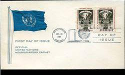 $4 1964 UN First Day Pair Postal Cover (STM-002527)
