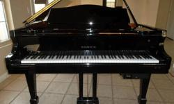 $4,850 Baby Grand Piano with Player System - Gloss Black -