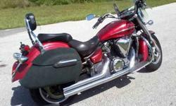 $4,900 2007 Yamaha v-star 1300 red 16k miles great condition