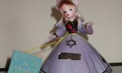 $4 Israel, hand-painted china figurine