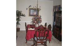 $500 9 Piece Antique Cherrywood Dining Room Set