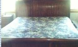 $500 Cherry King Size Sleigh Bed & Matching Armoire/Dresser