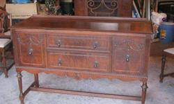$500 China cabinet and buffet table