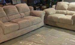 $500 Cream/White Sofa and Loveseat