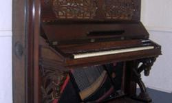 $500 Hallet & Davis; Upright piano, circa 1875, Good