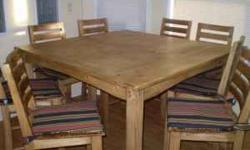 $500 Kitchen Table and 8 Chairs